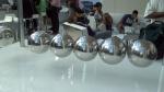 SXSW life size Newton's Cradle