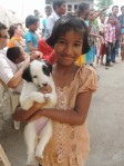 TMF girl with puppy